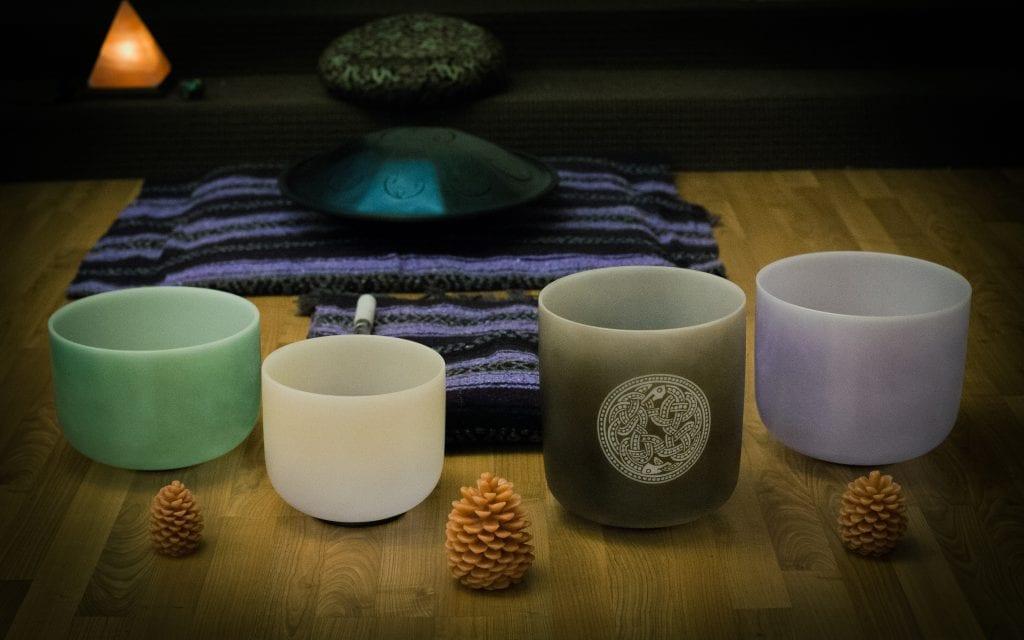 Gemstone Crystal Bowls | Sound Healing Gong Bath | Vinyasa Productions | Denver, Colorado